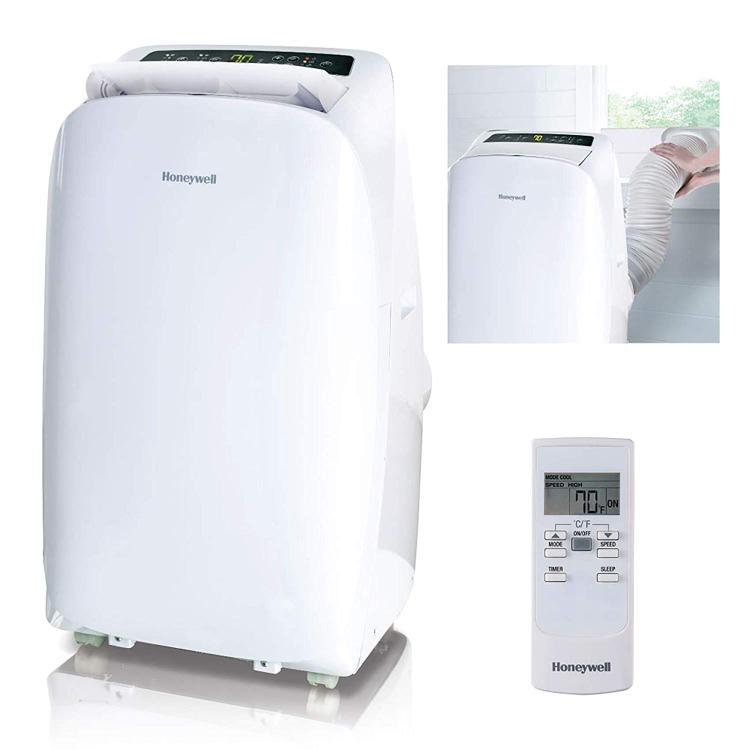 Honeywell Portable Air Conditioner with Dehumidifier & Fan for Rooms Up To 700 Sq. Ft. with Remote Control (White)