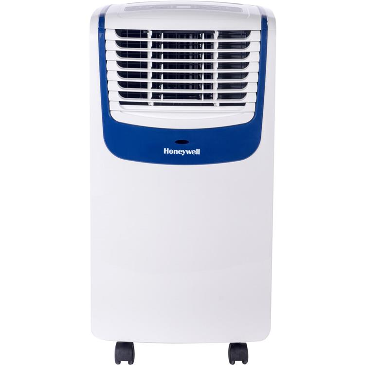 Honeywell MO Series Compact 3-in-1 Portable Air Conditioner with Remote Control for Rooms up to 250 Sq. Ft. in White/Blue