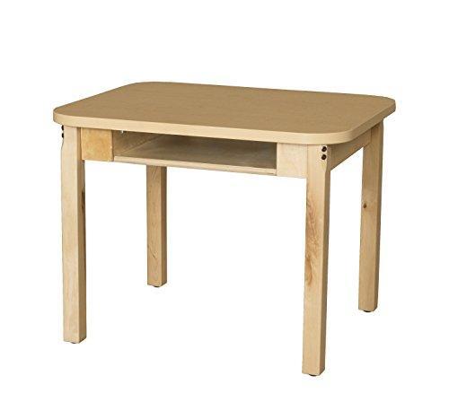 Classroom High Pressure Laminate Desk with Hardwood Legs- 24