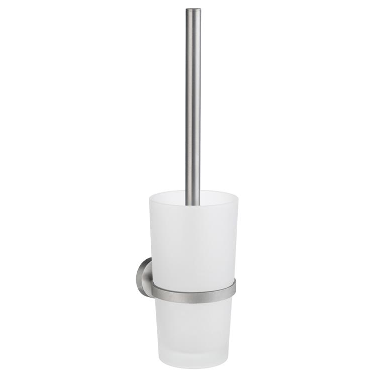 Home Wall Mount Toilet Brush/Glass