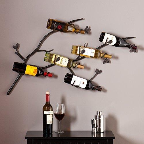 Southern Enterprises Brisbane Wall Mount Wine Rack