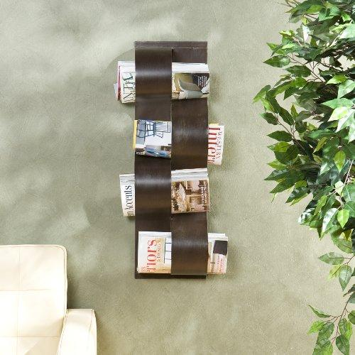 Wave Wall Mount Magazine Rack