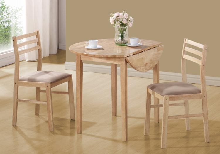 Monarch Specialties Dining Set - Drop Leaf Table