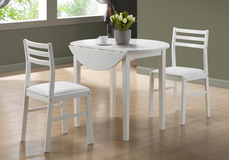 Monarch Specialties Dining Set - Drop Leaf Table [Item # I1008]