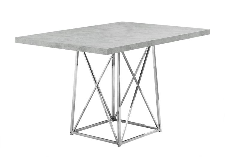 Monarch Specialties Dining Table With Metal Chair