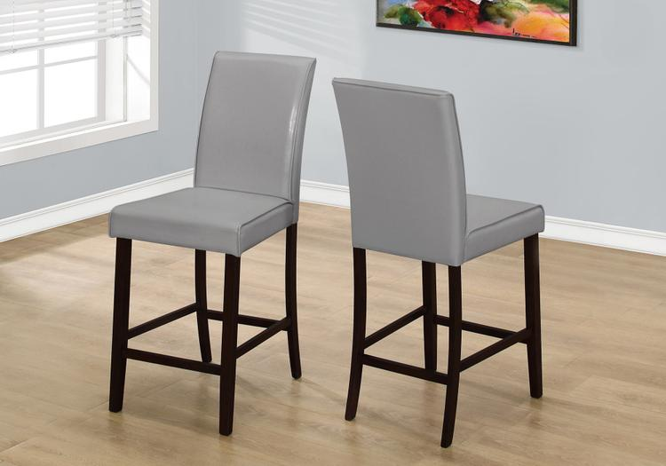 Monarch Specialties Dining Chair - Leather-Look Counter Height