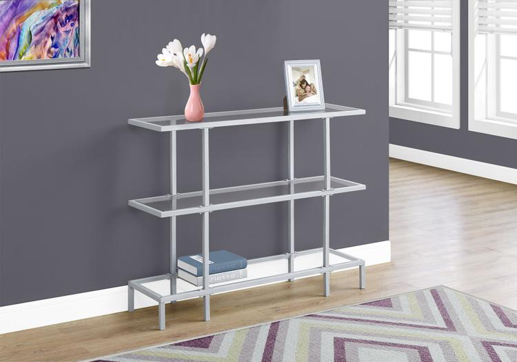 Accent Table - Tempered Glass Hall Console