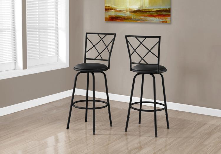 Barstool - Swivel/Leather-Look Seat