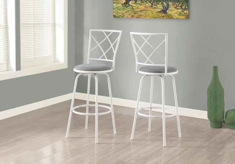 Monarch Specialties Swivel/Fabric Seat Barstool