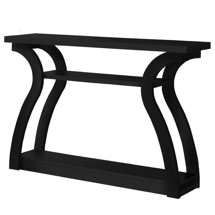 Monarch Specialties Accent Table - 47 inch L / Black Hall Console