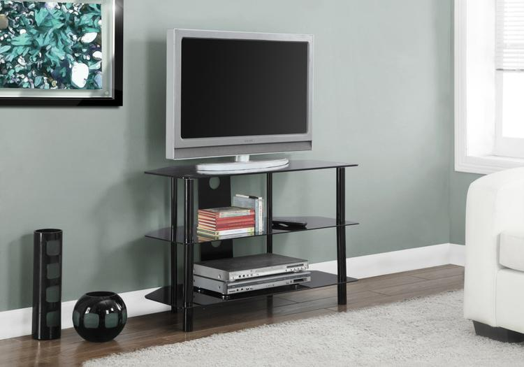 Tv Stand - Metal With Tempered Glass