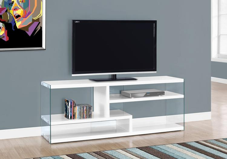 Monarch Specialties Tv Stand - With Tempered Glass