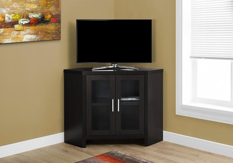 Monarch Specialties Tv Stand - Corner With Glass Doors