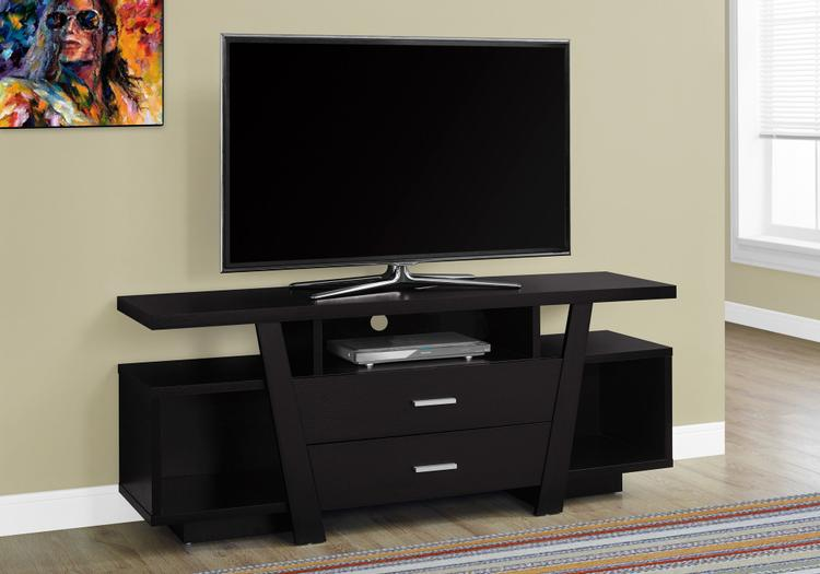 Monarch Specialties 2 Storage Drawers Tv Stand