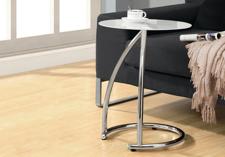 Accent Table - Metal With Tempered Glass