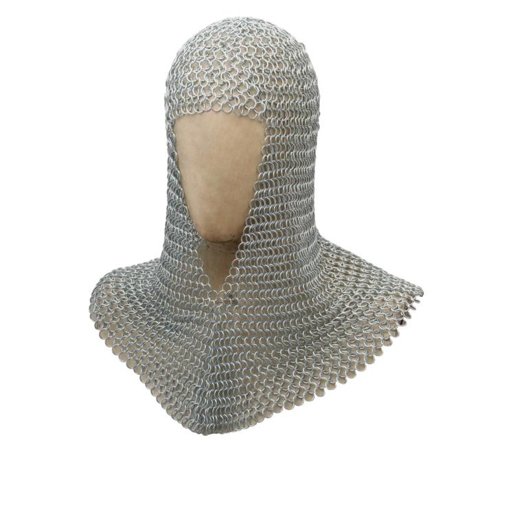 Benzara Metal Chain Mail Coif Medieval Armor