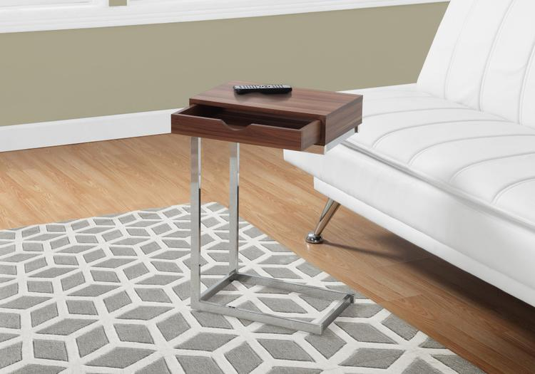 Monarch Specialties Accent Table - Metal With A Drawer