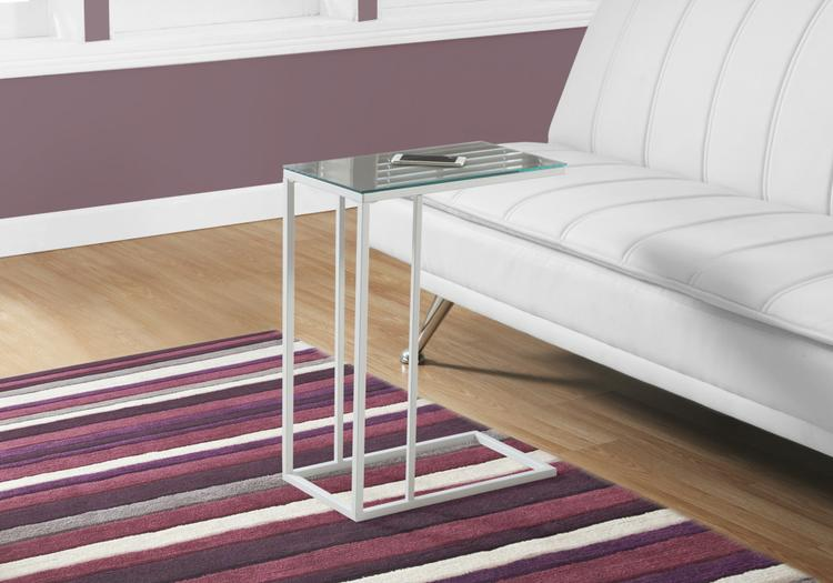Accent Table - Metal/Tempered Glass