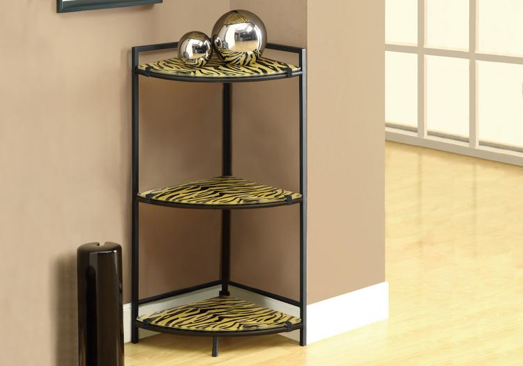 Accent Table - Metal With Tiger Tempered Glass