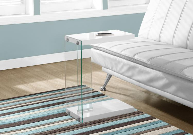Monarch Specialties Tempered Glass Accent Table