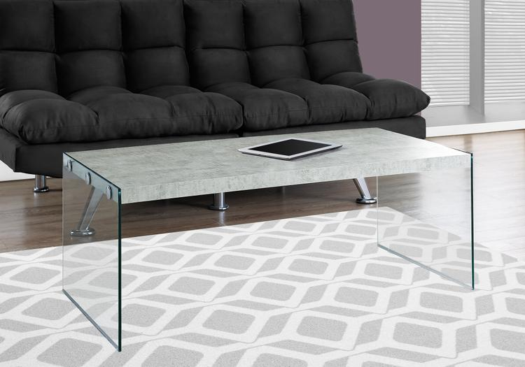 Monarch Specialties Coffee Table - With Tempered Glass
