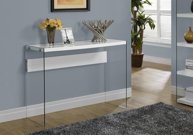 Monarch Specialties Console Table - With Tempered Glass