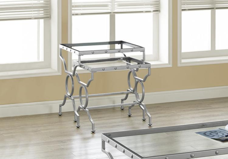 Nesting Table - With Tempered Glass