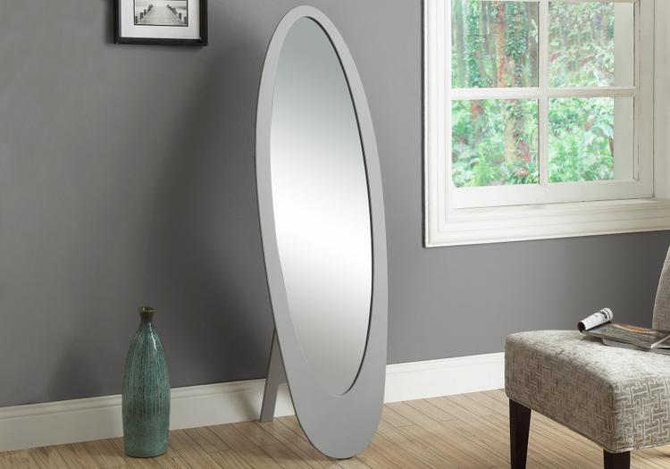 Monarch Specialties Contemporary Oval Cheval Mirror