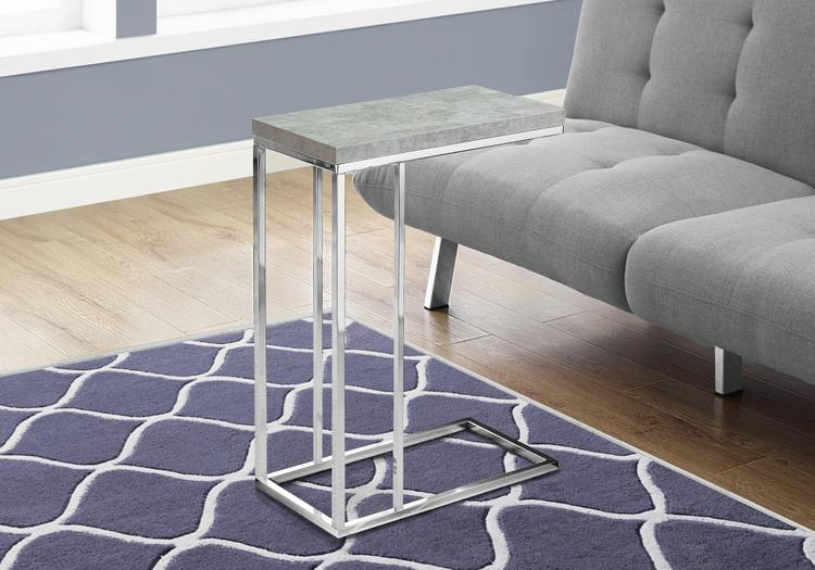 Accent Table - Cement With Chrome Metal