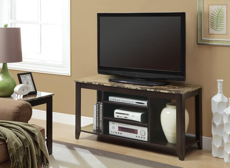 Monarch Specialties Tv Stand - Marble Top