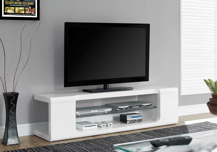 Monarch Specialties Tv Stand With Tempered Glass