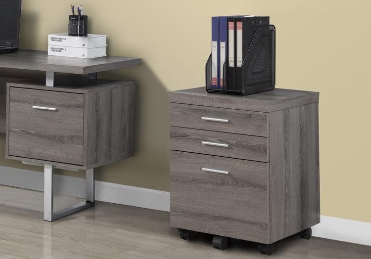 Monarch Specialties Hollow-Core 3 Drawer File Cabinet On Castors