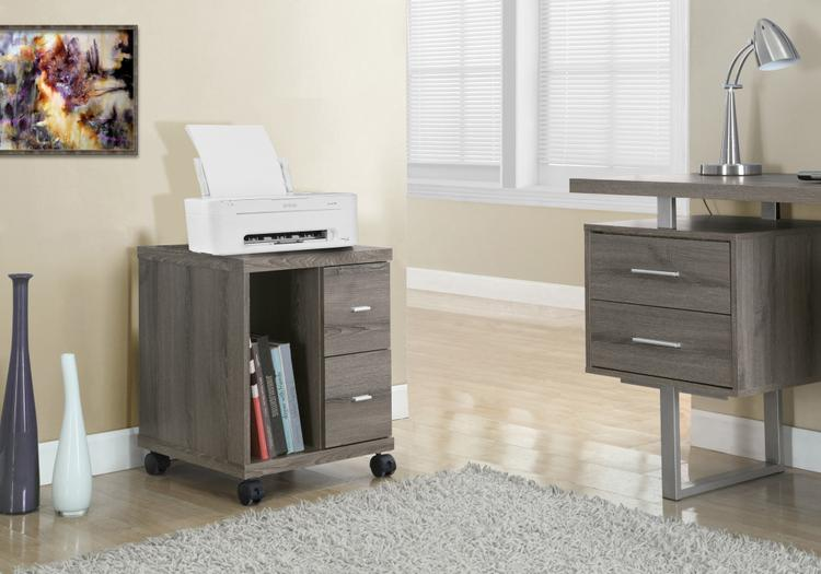 Monarch Specialties Office Cabinet - With 2 Drawers On Castors