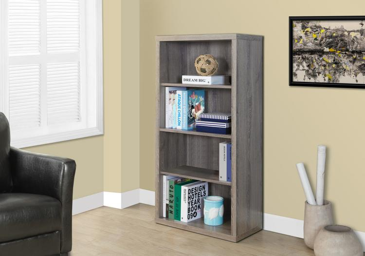 Monarch Specialties Bookcase - With Adjustable Shelves