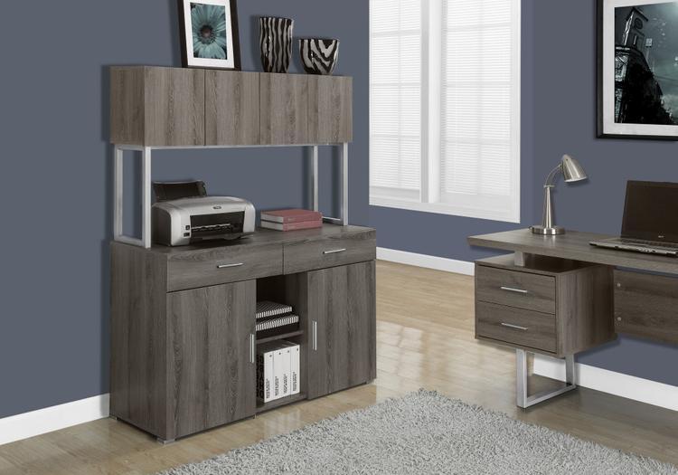Monarch Specialties Reclaimed-Look Office Storage Credenza