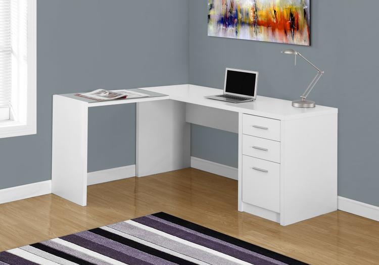 Monarch Specialties Computer Desk - Corner With Tempered Glass