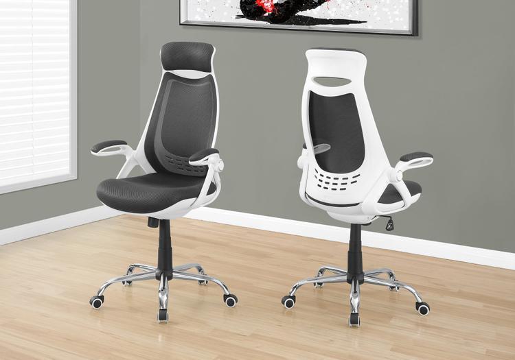 Office Chair - Mesh/Chrome High-Back Executive