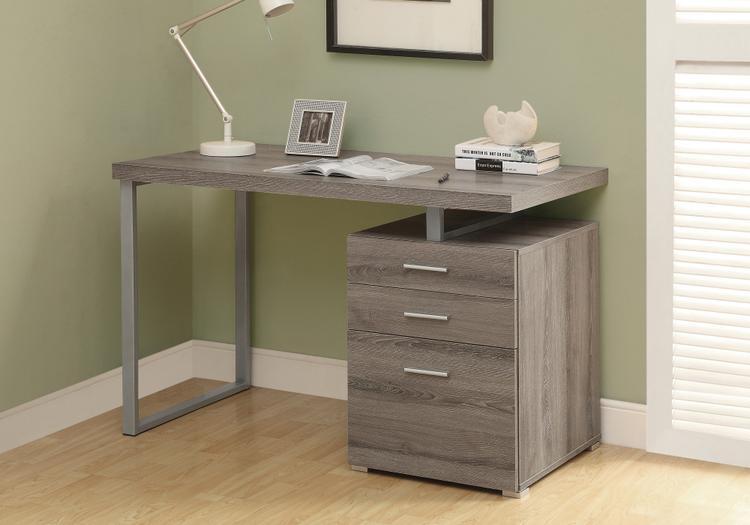 Monarch Specialties Reclaimed-Look Left/Right Facing Desk