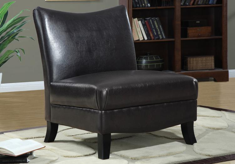 Accent Chair - Leather-Look Fabric
