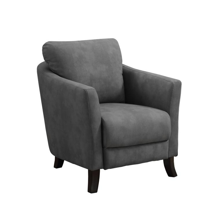 Monarch Specialties Accent Chair - Grey Microfiber Fabric