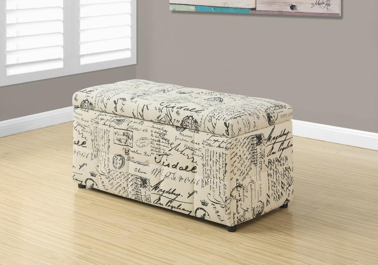Ottoman - Storage/Vintage French Fabric