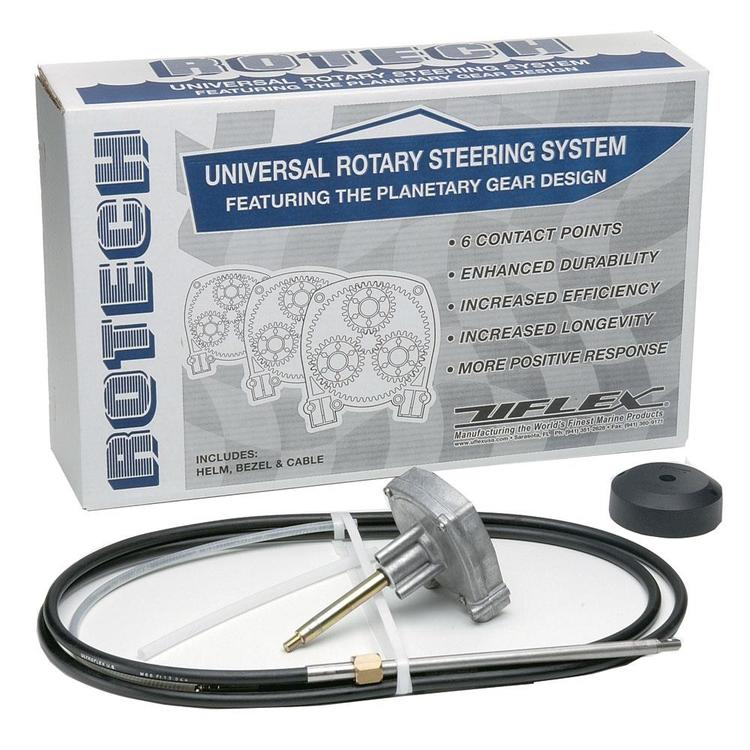 UFlex Rotech 18' Rotary Steering Package - Cable, Bezel, Helm