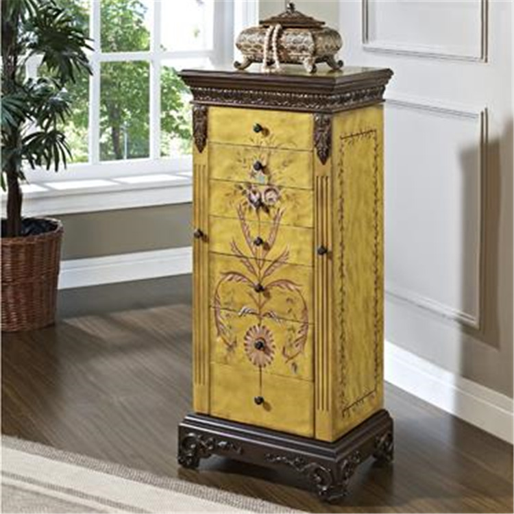 Powell Masterpiece Antique Parchment Jewelry Armoire