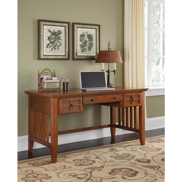 Arts & Crafts Cottage Oak Executive Desk With or Without Hutch