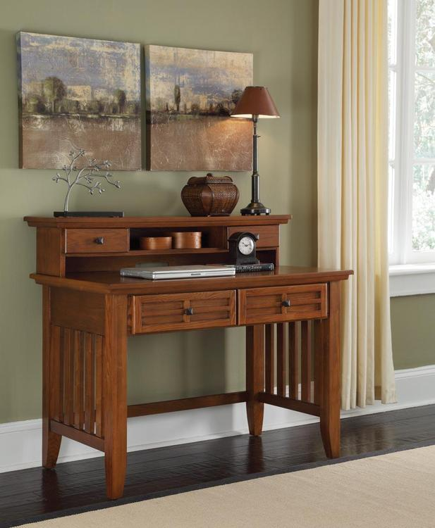Home Styles Arts & Crafts Cottage Oak Student Desk With or Without Hutch