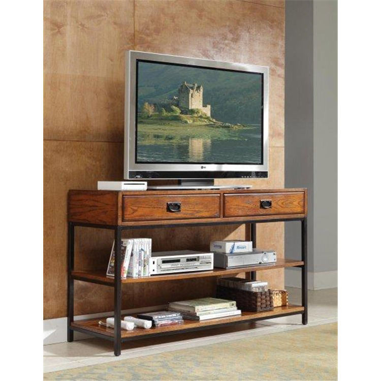 Modern Craftsman Distressed Oak TV Stand