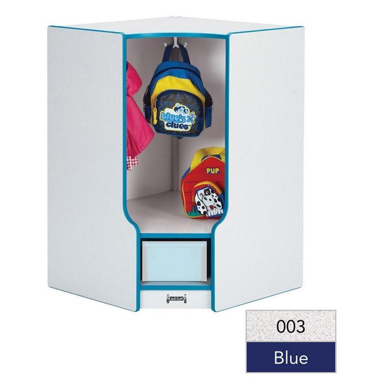 Jonti-Craft Rainbow Accents® Toddler Corner Coat Locker with Step