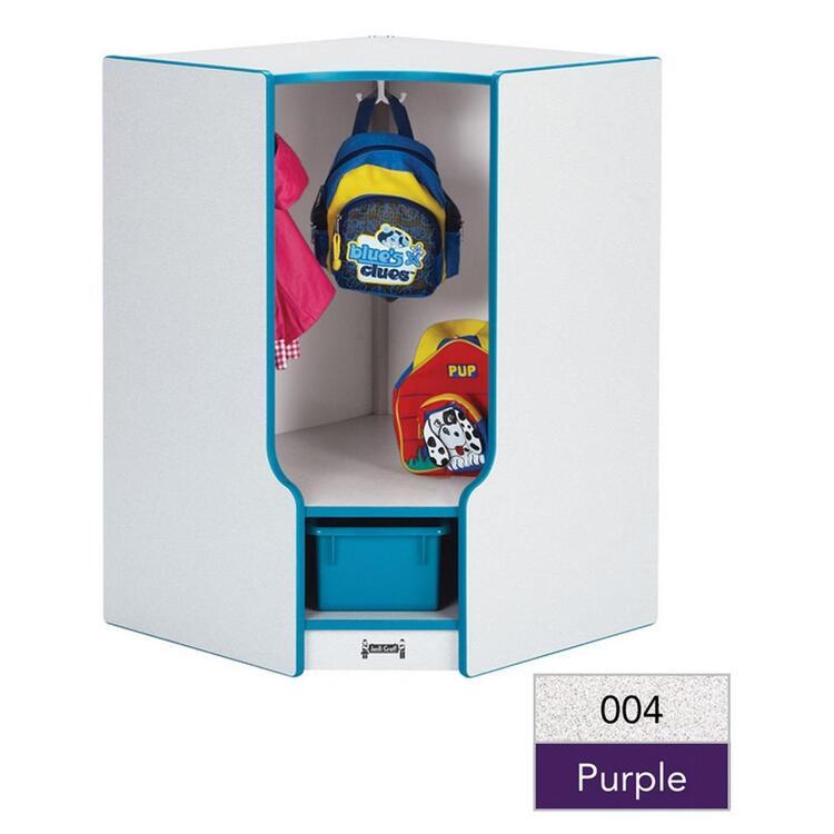 Rainbow Accents® Toddler Corner Coat Locker with Step