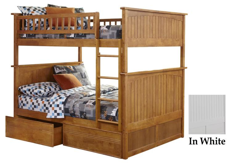 Nantucket Bunk with Flat Panel Drawers