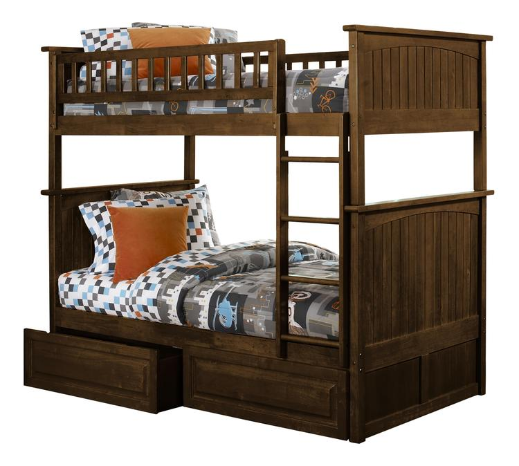 Nantucket Bunk with Raised Panel Drawers